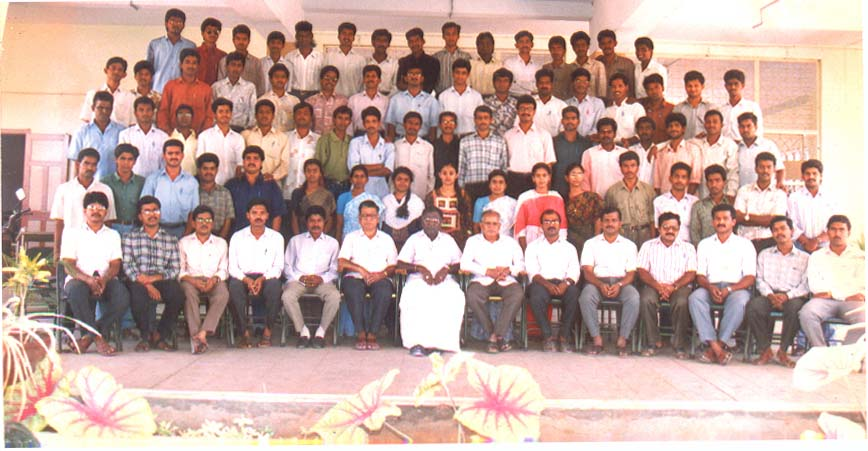 Group Photograph - Mechanical Engg Dept (1995) - 76kB
